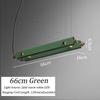 66 سم ، أخضر