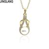 JINGLANG New Fashion Imitation Pendant Vintage Choker Charm Short Necklace Factory Price Handmade Jewelry