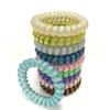 Glitter Metal Punk Hair Coil Ties Rubber Elastic Hair Bands Rope Ponytail Holders Girls Womens Hair Accessoires