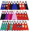 70*70cm Double Side Superhero Capes and Masks for kids Top Quality 30 Options Children Cartoon Capes Cosplay Party Halloween Costumes