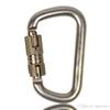 Famous 45KN Rock Climbing D-shaped Locking Carabiner for Attaching Devices to a Harness Climbing Main Locks