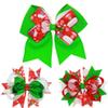 Baby Bow Hair Clips Christmas Grosgrain Ribbon Bows Christmas Design Hair Flowers Children Headwear Baby Hair Accessories B11