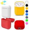 For Apple Airpods Silicone Case Soft Ultra Thin Protector Cover Sleeve Pouch for Air pods Earphone Case