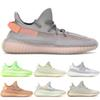2019 Kanye West Glow static reflective Cream White Designer Men Women Sneakers Zebra Static Sports Running Shoes With Box 36-48