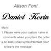 Alison Font-50cm-Gold Color