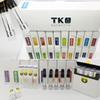 TKO Extracts Cartridges 510 Ceramic Vape Cartridges 0.8ml Empty Vape Pens E Cigarettes Vaporizer Carts Oil Tanks with Flavor Box Packaging