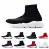 2019 ACE Designer casual sock Shoes Speed Trainer Black Red Triple Black Fashion Socks Sneaker Trainer casual shoes 36-45