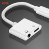 Charger Cable aux cable Adapter 2 in 1 earphones Music Jack Headphones Charging and Audio Cable