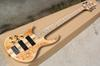 Factory Left-hand 5 Strings Electric Bass Guitar with Maple Fretboard,Neck-thru-body,2 Pickups,24 Frets,offering customized services