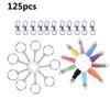 125Pcs Set Alloy Key Chains Tassel Bulk Key Rings Keyrings For DIY Crafts Jewelry Material