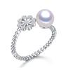 2017 Pearl jewelry Snowflake Freshwater Pearl Ring Wedding Rings 925 Sterling Silver jewelry Rings For Women best Gift