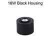 18W الأسود الإسكان