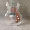 Free shipping New product Dan acrylic electric guitar crystal electric guitar rosewood pickguard
