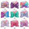 8 inch JOJO bow girl hair bows Flowers Rainbow Mermaid Design Girl Clippers Girls Hair Clips JOJO SIWA Hair Accessory