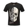 P brand skull t shirt mens summer luxury designer clothing short sleeve hip hop tops tee Casual Punk t-shirt 100% cotton Asia Size M-3XL