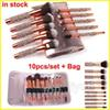 Makeup Brushes 10pcs set Luxury Diamond brush + Bag Foundation Makeup Brush Powder Eye shadow brushes Eyeliner Blush Cosmetic brush kit