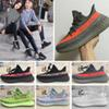 Kanye West Running Shoes Butter Sesame Static Mens Womens Sneakers Semi Frozen Yellow Blue Tint Beluga Black Red Bred Sport Trainers
