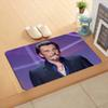 Custom Johnny Hallyday Watercolor Painting Doormat Home Decor Door mat Floor Mat Bath Mats foot pad #F31