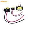 2pcs Car H11 H8 Heavy Duty Loose Wiring Ceramic Socket Plug Connectors Adapter Pigtails For Headlights Fog Lamps #5468