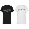 2019 Balmain T Shirts Clothing Designer Tees Blue Black White Mens Womens Slim Balmain France Paris Brand