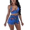 2Pcs Set Summer Women Backless Tank Tops Vest + Shorts Outfits Sexy Casual Party