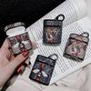 New Case For Airpods Case Luxury PU Leather Protective Cover Hook Clasp Keychain Anti Lost Fashion Brand Earphone Cases Protector