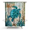 Turtle Shower Curtain with 12 Hooks Waterproof Bath Curtains Polyester Fabric Curtain For Bathroom Marine Style Home Bathroom Decor