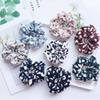 8 Color Women Girls Floral Leopard Elastic Ring Hair Ties Accessories Ponytail Holder Hairbands Rubber Band Scrunchies Sweat Sugar Color