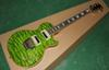 OEM Guitar New Arrival RPS electric guitar,SEE thru green,quilt flame body top !