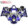 Blue Yellow GO!!! Bike Covers Casing For Yamaha 2000 2001 YZF1000 R1 Complete Plastic Blue White Design R1 00 01 Bike Bodywork Kit Panels