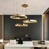 brief design rings LED chandeliers gold stainless steel hang lamp living chandelier loft lighting and projects lights AC 90-260V