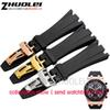 28cm High Quality Rubber Watch Band Strap+Clasp FIT (For) watch band Off shore Men's bracelet