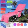 Beach Chair Towels With Pocket Strap Blanket Portable Quick-Dry Microfiber Double Layers Beach Chair Cover Sunbathe Lounger Mate Bed covers