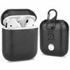 For Apple AirPods PU Leather Wireless Earphone Protective Case Holder Shell Cover Charging Cases with Hook with Retail Box