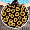 Sunflower Design Round Beach Towel With Tassel Wholesale Microfiber Serape Stripes Beach Towel Blanket Leopard Picnic Yoga Mat DOM1061050