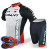 Giant Team Cycling Short Sleeves Jersey (Bib )Shorts Sets Riding Bike Summer Breathable Wear Clothing Ropa Ciclismo 9d Gel Pad F2005