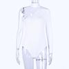 white bodysuit one shoulder