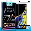 3D Full GLUE Coverage Fingerprint Unclock Case friendly Tempered Glass For Samsung Note 10 S10 S9 S8 Plus S7 S6 Edge Curve Screen Protector