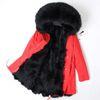 fourrure rouge noir