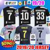 New 2019 RONALDO JUVENTUS Soccer Jerseys 18 19 20 JUVE 2020 Home DYBALA HIGUAIN BUFFON Camisetas Futbol Kids Kit Maillot Football Shirts