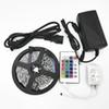 NO waterproof RGB led strips SMD3528 24key IR led strip lights 300LED strips for decoration whole set with power supplyy