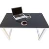 Home FurnitureDecent High Strength Wooden Computer Desk Black Color