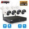 1080P 4CH نظام كاميرا واي فاي
