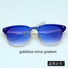 X0 ouro / espelho gradiente azul