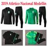 2019 new Atletico Nacional Medellin Soccer soccer tracksuit training track suit 19 20 Colombia Club Medellin Green Football jacket