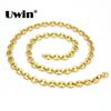 Uwin Necklace Punk Hiphop 316l Stainless Steel Silver,gold Color Link Chain 8mm For Women men Fashion Jewelry Drop Shipping J190529