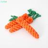 New Carrot Dog Toys Cat Pet Cotton Imitate Braided Weaved Bone Rope Knot Toy Pet Teeth Resistant to bite Toys Free Shipping