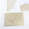 Glittery laser cut wedding invitations 50pcs gold silver customized printing insert card RSVP