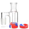 New 3.5 Inch Glass Ash Catcher with 14mm 18mm 10ML Silicone Container Reclaimer Thick Pyrex Ashcatcher for Glass Water Bongs