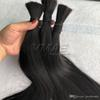 "Brazilian Straight Natural Color Hair Bulk 100% Raw Unprocessed Human Braiding Hair 100g piece 3pieces 18"" to 30"" VMAE Hair"